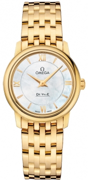 Omega De Ville Prestige 27.4mm Ladies watch, model number - 424.50.27.60.05.001, discount price of £10,030.00 from The Watch Source