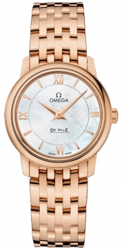 Omega De Ville Prestige 27.4mm Ladies watch, model number - 424.50.27.60.05.002, discount price of £10,030.00 from The Watch Source