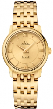 Omega De Ville Prestige 27.4mm Ladies watch, model number - 424.50.27.60.08.001, discount price of £11,052.00 from The Watch Source