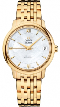 Buy this new Omega De Ville Prestige Co-Axial 32.7 424.50.33.20.05.001 ladies watch for the discount price of £12,996.00. UK Retailer.