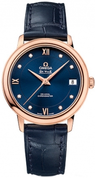 Buy this new Omega De Ville Prestige Co-Axial 32.7 424.53.33.20.53.001 ladies watch for the discount price of £6,300.00. UK Retailer.