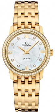 Omega De Ville Prestige 27.4mm Ladies watch, model number - 424.55.27.60.55.001, discount price of £12,670.00 from The Watch Source