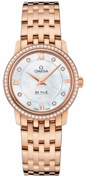 Omega De Ville Prestige 27.4mm Ladies watch, model number - 424.55.27.60.55.002, discount price of £12,670.00 from The Watch Source