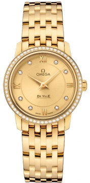 Omega De Ville Prestige 27.4mm Ladies watch, model number - 424.55.27.60.58.001, discount price of £14,004.00 from The Watch Source