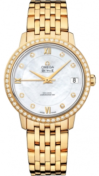 Omega De Ville Prestige Co-Axial 32.7 Ladies watch, model number - 424.55.33.20.55.001, discount price of £16,927.00 from The Watch Source