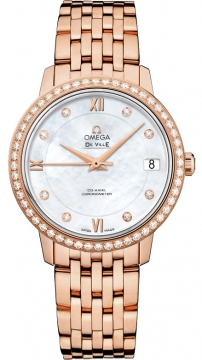 Buy this new Omega De Ville Prestige Co-Axial 32.7 424.55.33.20.55.002 ladies watch for the discount price of £17,928.00. UK Retailer.