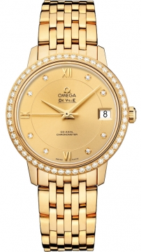 Omega De Ville Prestige Co-Axial 32.7 Ladies watch, model number - 424.55.33.20.58.001, discount price of £16,718.00 from The Watch Source