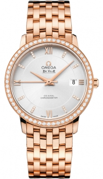Buy this new Omega De Ville Prestige Co-Axial 36.8 424.55.37.20.52.001 midsize watch for the discount price of £24,849.00. UK Retailer.