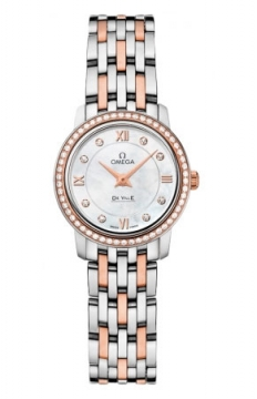 Omega De Ville Prestige 24.4mm Ladies watch, model number - 424.25.24.60.55.002, discount price of £5,100.00 from The Watch Source