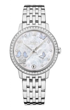 Omega De Ville Prestige Co-Axial 32.7 Ladies watch, model number - 424.55.33.20.55.003, discount price of £22,248.00 from The Watch Source