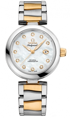 Buy this new Omega De Ville Ladymatic 34mm 425.20.34.20.55.003 ladies watch for the discount price of £11,088.00. UK Retailer.