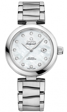 Buy this new Omega De Ville Ladymatic 34mm 425.30.34.20.55.002 ladies watch for the discount price of £5,112.00. UK Retailer.
