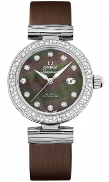 Buy this new Omega De Ville Ladymatic 34mm 425.37.34.20.57.004 ladies watch for the discount price of £10,296.00. UK Retailer.
