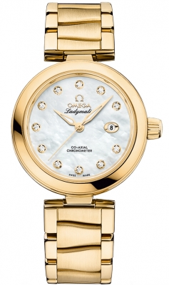 Buy this new Omega De Ville Ladymatic 34mm 425.60.34.20.55.003 ladies watch for the discount price of £17,784.00. UK Retailer.