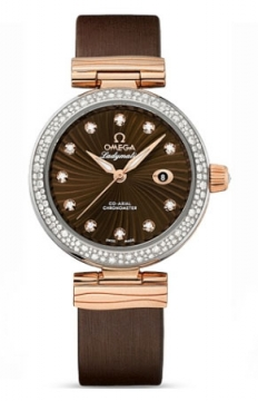 Omega De Ville Ladymatic 34mm Ladies watch, model number - 425.27.34.20.63.001, discount price of £10,640.00 from The Watch Source