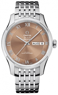 Buy this new Omega De Ville Hour Vision Annual Calendar Co-Axial Master Chronometer 41mm 433.10.41.22.10.001 mens watch for the discount price of £6,552.00. UK Retailer.