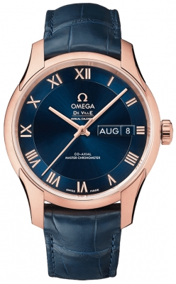 Buy this new Omega De Ville Hour Vision Annual Calendar Co-Axial Master Chronometer 41mm 433.53.41.22.03.001 mens watch for the discount price of £13,752.00. UK Retailer.