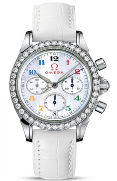Omega De Ville Co-Axial Chronograph Ladies watch, model number - 4876.70.36 Olympic Edition Timeless Collection, discount price of £7,515.00 from The Watch Source
