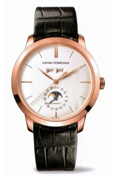 Girard Perregaux 1966 Full Calendar 40mm Mens watch, model number - 49535-52-151-bk6a, discount price of £14,060.00 from The Watch Source