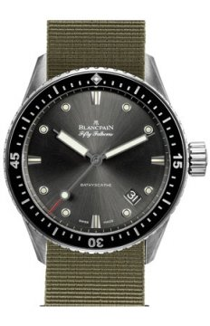 Blancpain Fifty Fathoms Bathyscaphe Automatic 43mm Mens watch, model number - 5000-1110-NAKA, discount price of £5,832.00 from The Watch Source