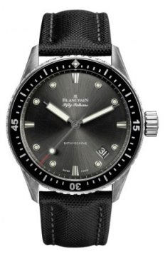 Blancpain Fifty Fathoms Bathyscaphe Automatic 43mm Mens watch, model number - 5000-1110-b52a, discount price of £6,506.00 from The Watch Source