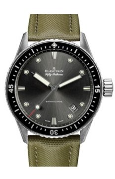 Blancpain Fifty Fathoms Bathyscaphe Automatic 43mm Mens watch, model number - 5000-1110-k52a, discount price of £5,832.00 from The Watch Source