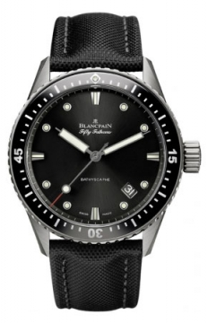Blancpain Fifty Fathoms Bathyscaphe Automatic 43mm Mens watch, model number - 5000-1230-b52a, discount price of £7,184.00 from The Watch Source