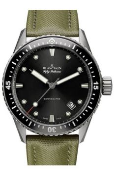 Blancpain Fifty Fathoms Bathyscaphe Automatic 43mm Mens watch, model number - 5000-1230-k52a, discount price of £6,842.00 from The Watch Source