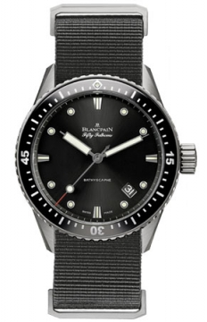 Blancpain Fifty Fathoms Bathyscaphe Automatic 43mm Mens watch, model number - 5000-1230-naba, discount price of £6,842.00 from The Watch Source