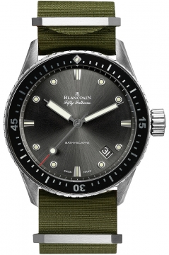 Blancpain Fifty Fathoms Bathyscaphe Automatic 43mm Mens watch, model number - 5000-1230-naka, discount price of £6,842.00 from The Watch Source