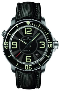 Blancpain Fifty Fathoms 500 Fathoms Mens watch, model number - 50015-12b30-52b, discount price of £14,577.00 from The Watch Source