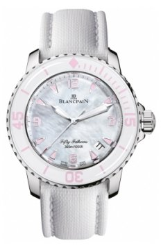 Blancpain Fifty Fathoms Automatic Ladies watch, model number - 5015-1144-52a, discount price of £10,149.00 from The Watch Source