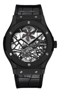Hublot Classic Fusion Tourbillon 45mm Mens watch, model number - 505.cm.0140.lr, discount price of £53,840.00 from The Watch Source