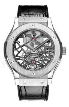 Hublot Classic Fusion Skeleton Tourbillon 45mm Mens watch, model number - 505.nx.0170.lr, discount price of £56,000.00 from The Watch Source