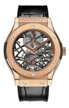 Hublot Classic Fusion Skeleton Tourbillon 45mm Mens watch, model number - 505.ox.0180.lr, discount price of £60,000.00 from The Watch Source