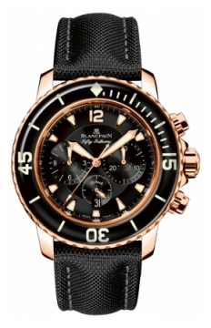 Blancpain Fifty Fathoms Flyback Chronograph Mens watch, model number - 5085F-3630-52b, discount price of £21,781.00 from The Watch Source
