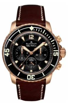 Blancpain Fifty Fathoms Flyback Chronograph Mens watch, model number - 5085FA-3630-63b, discount price of £22,869.00 from The Watch Source