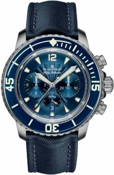 Blancpain Fifty Fathoms Flyback Chronograph Mens watch, model number - 5085FB-1140-52b, discount price of £10,837.00 from The Watch Source