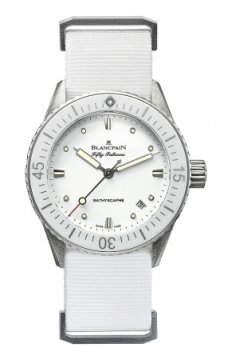 Blancpain Fifty Fathoms Bathyscaphe Automatic 38mm Ladies watch, model number - 5100-1127-nawa, discount price of £5,601.00 from The Watch Source