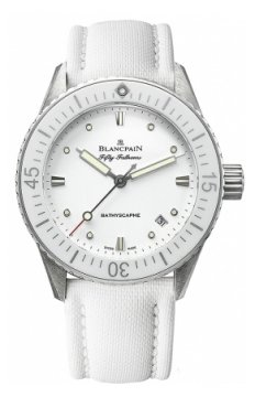 Blancpain Fifty Fathoms Bathyscaphe Automatic 38mm Ladies watch, model number - 5100-1127-w52a, discount price of £5,881.00 from The Watch Source