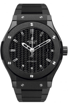 Hublot Classic Fusion Automatic Black Magic Ceramic 45mm Mens watch, model number - 511.cm.1770.cm, discount price of £8,320.00 from The Watch Source