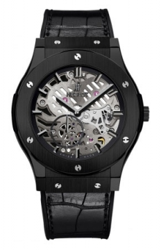 Hublot Classic Fusion Classico Ultra Thin Skeleton Ceramic 45mm Mens watch, model number - 515.cm.0140.lr, discount price of £11,120.00 from The Watch Source