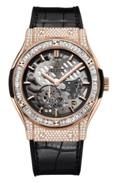 Hublot Classic Fusion Classico Ultra Thin Skeleton 45mm Mens watch, model number - 515.ox.0180.lr.0904, discount price of £59,600.00 from The Watch Source