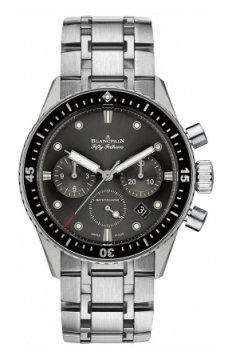 Blancpain Fifty Fathoms Bathyscaphe Flyback Chronograph 43mm Mens watch, model number - 5200-1110-70b, discount price of £10,268.00 from The Watch Source