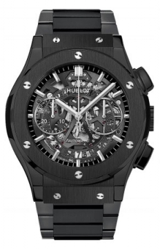 Hublot Classic Fusion Aerofusion Chronograph Black Magic 45mm Mens watch, model number - 525.cm.0170.cm, discount price of £11,360.00 from The Watch Source