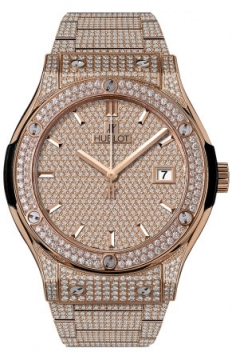 Hublot Classic Fusion Automatic Gold 42mm Mens watch, model number - 542.ox.9010.ox.3704, discount price of £60,640.00 from The Watch Source
