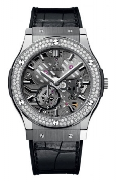 Hublot Classic Fusion Classico Ultra Thin Skeleton 42mm Mens watch, model number - 545.nx.0170.lr.1104, discount price of £11,840.00 from The Watch Source
