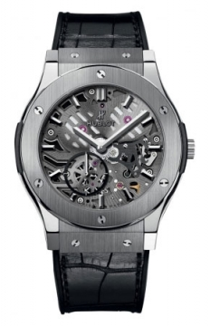 Hublot Classic Fusion Classico Ultra Thin Skeleton 42mm Mens watch, model number - 545.nx.0170.lr, discount price of £10,000.00 from The Watch Source