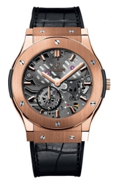 Hublot Classic Fusion Classico Ultra Thin Skeleton 42mm Mens watch, model number - 545.ox.0180.lr, discount price of £19,040.00 from The Watch Source