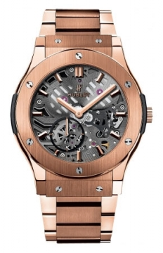 Hublot Classic Fusion Classico Ultra Thin Skeleton 42mm Mens watch, model number - 545.ox.0180.ox, discount price of £26,200.00 from The Watch Source